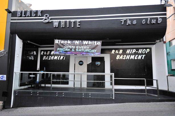 black and white ночной клуб:
